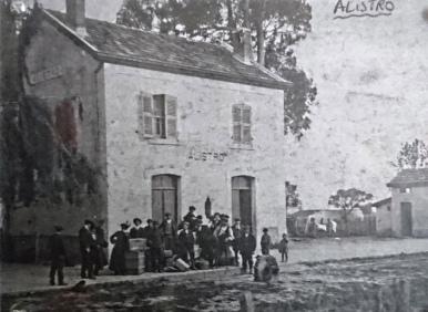 La gare d'Alistro au début du siècle
